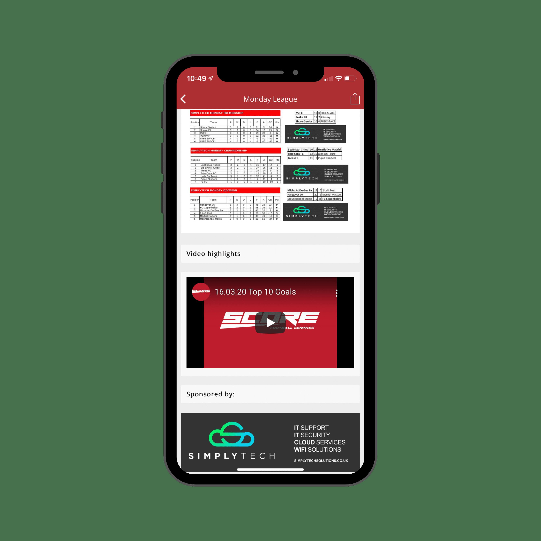 Score FC Mobile App